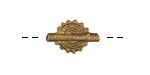 African Brass Small Flat Sun Coin 20-23x10-12mm