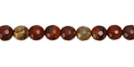 Apple Jasper Faceted Round 6mm