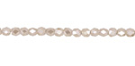 Pearl Crystal Tiny Faceted Barrel 3mm