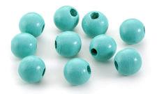 Turquoise Wood Round 14mm