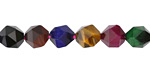 Tiger Eye (jewel tone multi) Star Cut Round 8mm