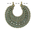 Zola Elements Patina Green Brass Bali Crescent Focal 37x38mm