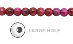 Ruby Crazy Lace Agate Round (Large Hole) 6mm