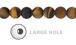 Tiger Eye (Matte) Round (Large Hole) 8mm
