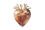 Patricia Healey Copper Flaming Heart 10mm Flat Slide 19x26mm