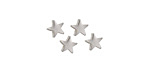 Silver (plated) Star Focal Bead 6mm