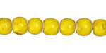 African Trade Beads Canary Yellow White Heart Glass 7-9mm
