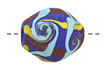 Unicorne Beads Indigo Barrel Bead 25x22mm