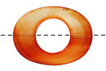 Carnelian (natural) Flat Oval Donut 28x38mm