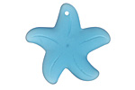 Peacock Blue Recycled Glass Starfish 32mm