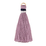 Lavender w/ Gray and Navy Binding & Jump Ring Thread Tassel 41mm