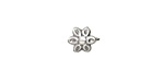 Antique Silver (plated) Daisy 2mm Cord End with Eye 10x8mm