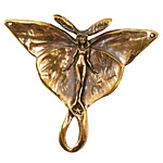 Green Girl Bronze Luna Moth Fairy 42mm
