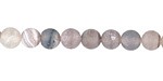 Gray Agate (matte) Round 6mm