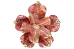 Patricia Healey Copper Stacked 5 Petal Flower 10mm Flat Slide 31mm