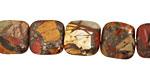 Red Creek Jasper w/ Pyrite Puff Square 12mm