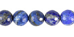 Lapis Faceted Round 10-10.5mm