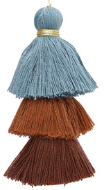 Riverbank Mix 3-Tiered Tassel 75mm