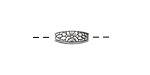 Zola Elements Antique Silver (plated) Floral 4-Sided Rice 12x5mm
