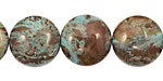 Blue Calsilica Jasper Puff Coin 16mm