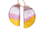 Gaea Copper Sunrise Enamel Half Moon Focal Pair 14x26mm