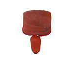 Red Agate Matte Barrel Guru Bead 18mm
