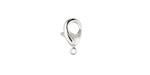 Silver (plated) Lobster Clasp 12x7mm