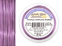 Artistic Wire Silver Plated Amethyst 26 gauge, 30 yards