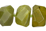 Olive Jade Faceted Nugget 14-15x19-22mm