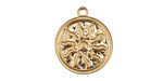 Zola Elements Matte Gold (plated) Radiant Sun Coin Focal 18x21mm