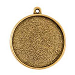 Nunn Design Antique Gold (plated) Grande Circle Bezel Pendant 38x34mm
