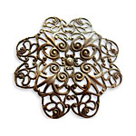 Vintaj Natural Brass Gerbera Petal Filigree 38mm
