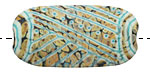 A Beaded Gift Copper Raku Tribe Glass Focal 36-40x20mm