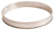 Nunn Design Antique Silver (plated) Channel Bangle Bracelet 70mm