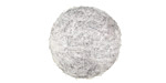 Heather Gray Felt Round 20mm