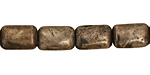 Golden Pyrite (silver tone) Thin Pillow 12x8mm