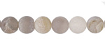 Gray Agate (matte) Round 8mm
