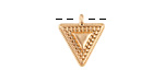 Zola Elements Matte Gold Finish Beaded Triangle Charm 14x16mm