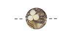A Beaded Gift Plumeria Blossoms Coin 15mm