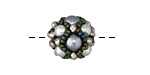 Misty Mores Hand Woven Round Bead 15mm