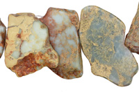 Impression Jasper Graduated Flat Freeform Drop 18-45x30-65mm