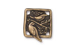 TierraCast Antique Brass (plated) Botanical Bird Link 18x21mm