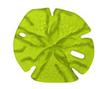 Olive Recycled Glass Sand Dollar 39mm