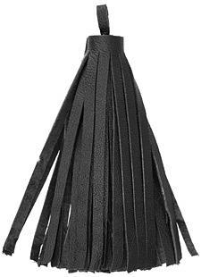 Black Large Nappa Leather Tassel