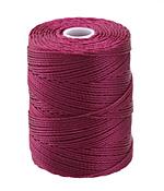 C-Lon Raspberry (.5mm) Bead Cord
