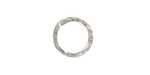 Nunn Design Sterling Silver (plated) Small Hammered Circle 17.5mm