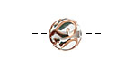 Czech Lampwork Mist w/ Rose Gold Round 11-13mm