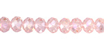 Garden Rose AB Crystal Faceted Rondelle 8mm