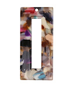 Zola Elements Garden Party Acetate Rectangle Donut 22x49mm