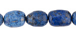 Lapis Faceted Nugget 12-17x11-13mm